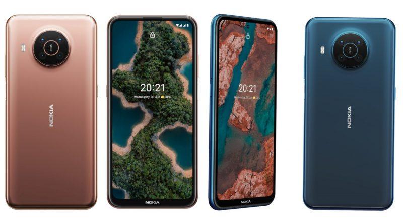 Nokia X20:n värivaihtoehdot.