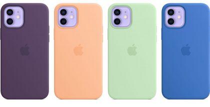 iPhone 12 -puhelinten silikonikuori MagSafella - neljä uutta väriä.