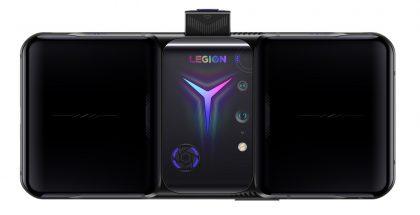 Nykyinen Legion Phone Duel 2. Puhelin on muotoiltu vaakasuunnassa kahdella kädellä pideltäväksi.