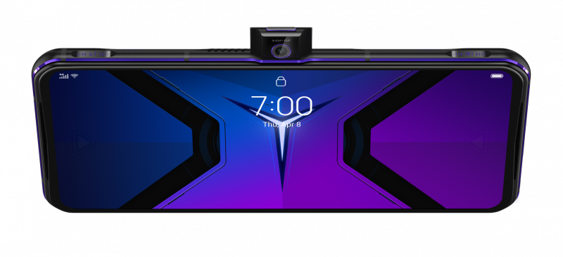 44 megapikselin etukamera nousee tarvittaessa esiin Legion Phone Duel 2:n pidemmältä kyljeltä.