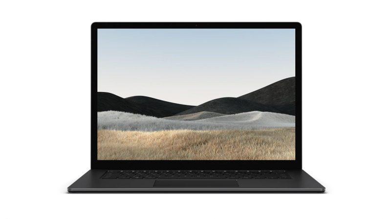 Microsoft Surface Laptop 4:n mattamusta värivaihtoehto.