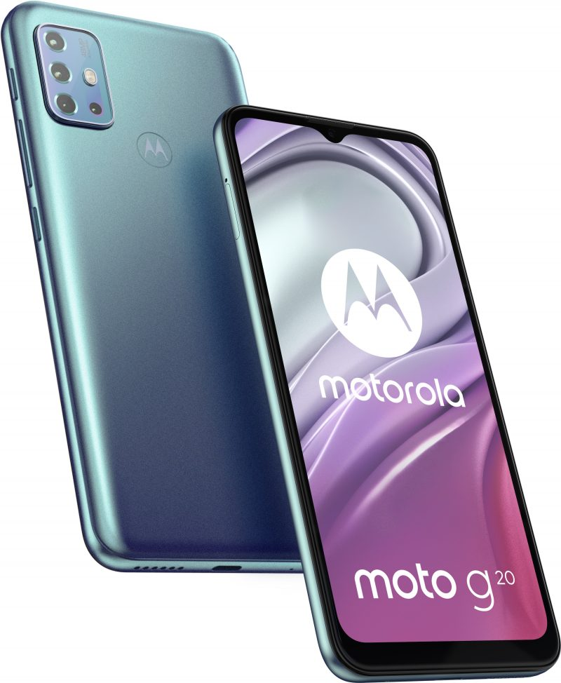 Motorola Moto G20, Breeze Blue.