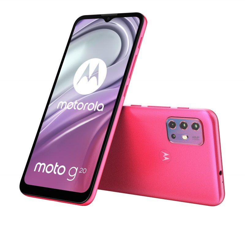Motorola Moto G20, Flamingo Pink.