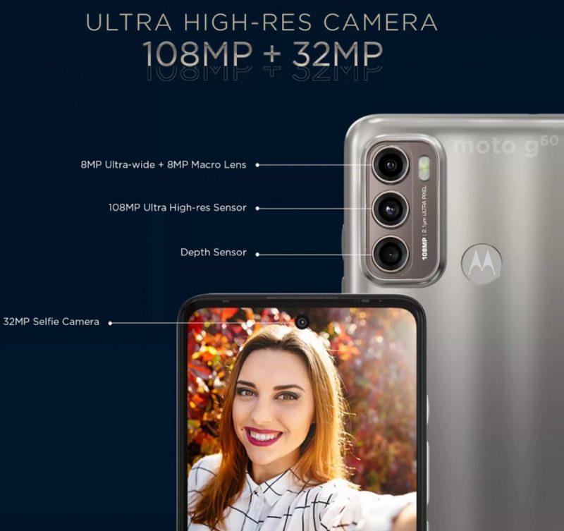 Moto G60:n kamerat Motorolan ennakkokuvassa.