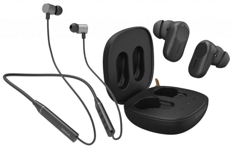 Nokia Bluetooth Headset T2000 ja Nokia True Wireless Earphone ANC T3110.