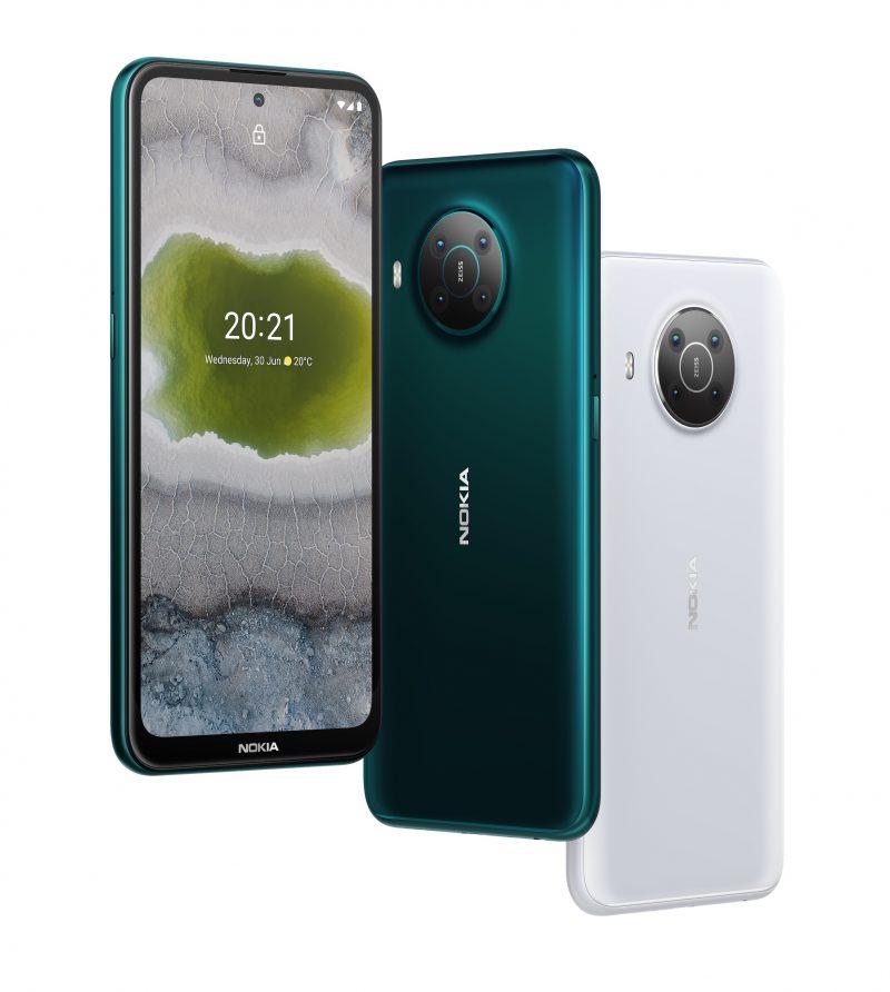 Nokia X10 kahtena värivaihtoehtonaan.