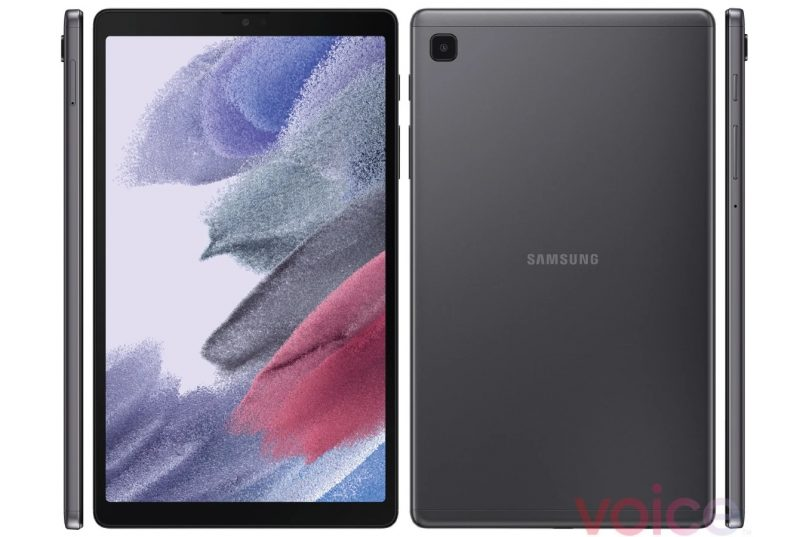 Samsung Galaxy Tab A7 Lite harmaana. Kuva: Evan Blass / Voice.