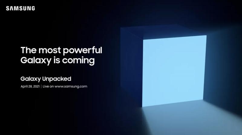 Samsung järjestää Galaxy Unpacked -julkistustilaisuuden 28. huhtikuuta.