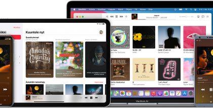 Apple Music eri laitteissa.