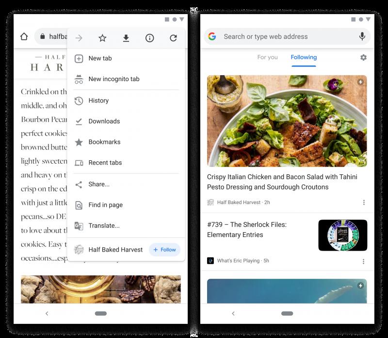 Googlen kehittämä uusi Chrome-toiminto mahdollistaa sivustojen seuraamisen. Uudet julkaisut ilmestyvät uusi välilehti -näkymässä uuteen Following-osioon.