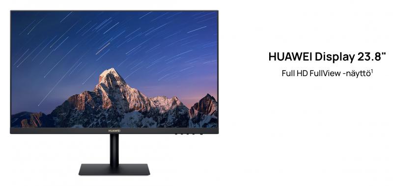 """Huawei Display 23,8"""" on ensimmäinen tietokonenäyttö Huaweilta."""