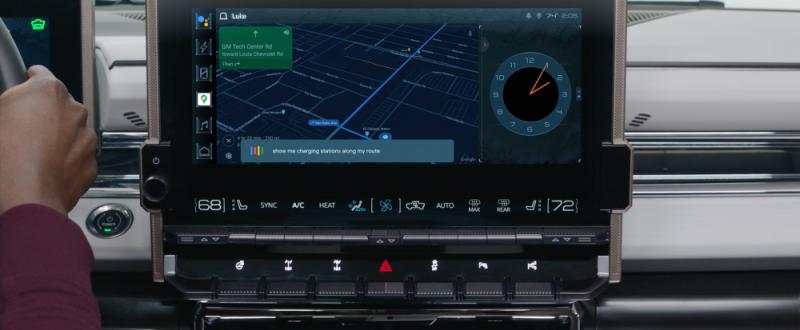 Android Automotive Hummer EV -sähkökatumaasturissa.