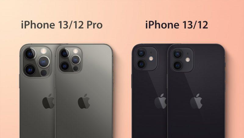 iPhone 13 Pro vs. iPhone 12 Pro ja iPhone 13 vs. iPhone 12. Kuva: MacRumors.