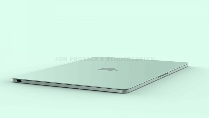 Uusi MacBook Air on mahdollisesti saamassa suorat kyljet ja ylä- ja alapinnan. Kuva: Jon Prosser / RendersByIan.