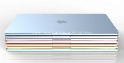 Uutta MacBook Airia odotetaan useissa väreissä. Kuva: Jon Prosser / RendersByIan.
