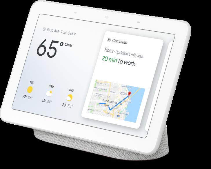 1. sukupolven Nest Hub, alun perin nimeltään Google Home Hub.