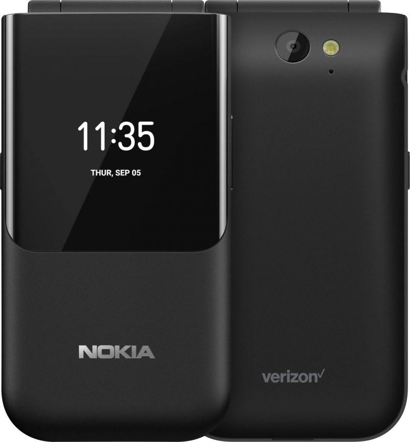 Nokia 2720 V Flip on varustettu Nokian lisäksi myös Verizonin logolla.