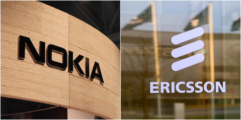 Nokia Ericsson logot.