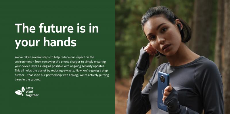 Nokia-puhelinten kampanjan tavoitteena on istuttaa puita puhelinmyynnin perusteella.