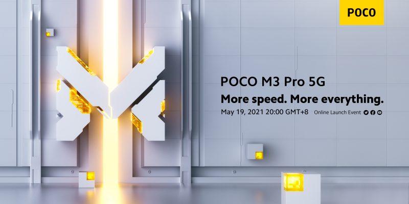 Poco M3 Pro 5G julkistetaan virallisesti 19. toukokuuta.