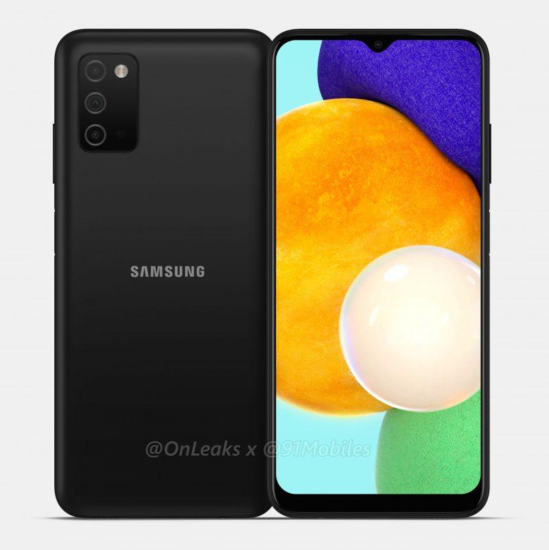 Samsung Galaxy A03s:n mallinnos. Kuva: Steve Hemmerstoffer / 91mobiles.