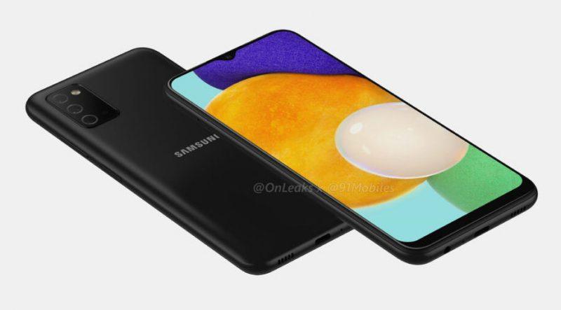 Samsung Galaxy A03s tulee sisältämään kolme takakameraa ja yhden etukameran näytön yläreunan lovessa. Kuva: Steve Hemmerstoffer / 91mobiles.