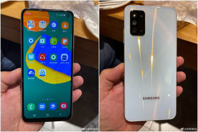 Samsung Galaxy F52 5G vuotokuvissa.