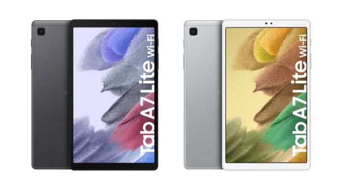 Galaxy Tab A7 Liten kaksi värivaihtoehtoa. Kuva: WinFuture.de.