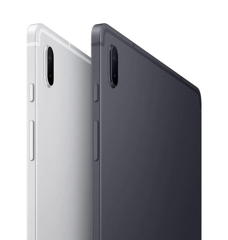 Galaxy Tab S7 FE, Mystic Silver ja Mystic Black.