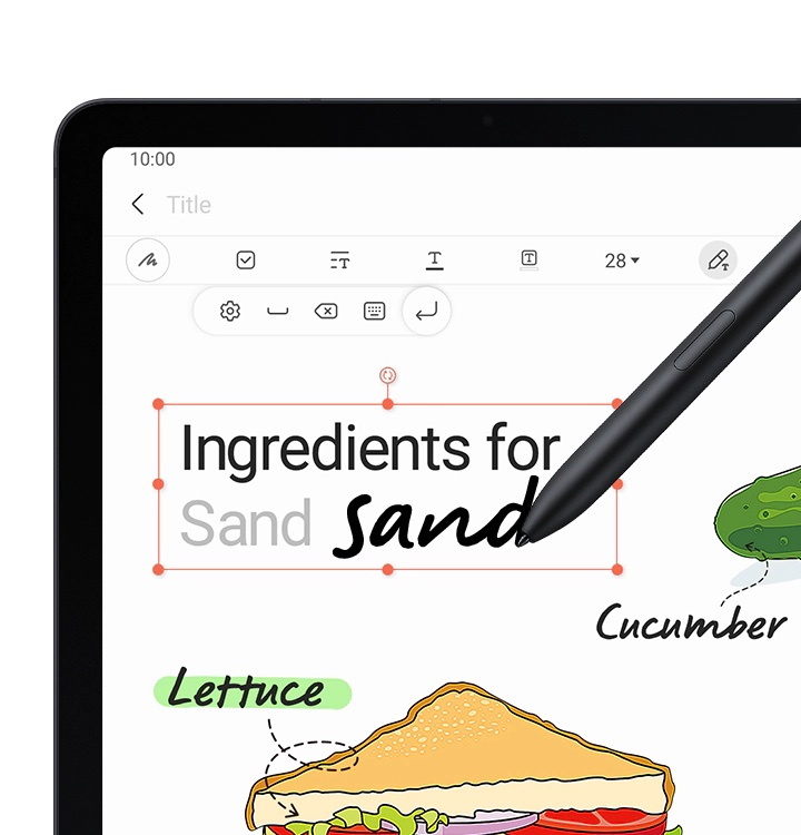 S Pen -kynä käytössä.