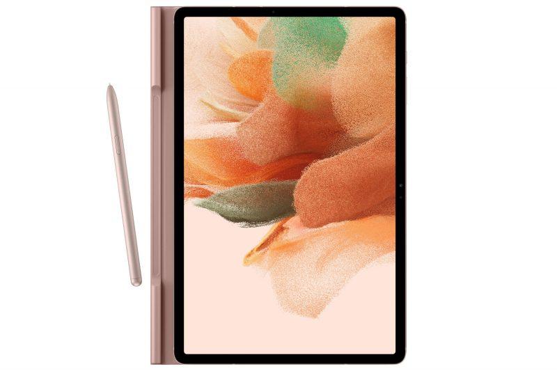 Samsung Galaxy Tab S7+ Lite suojakuoren ja S Penin kanassa. Kuva: Evan Blass.