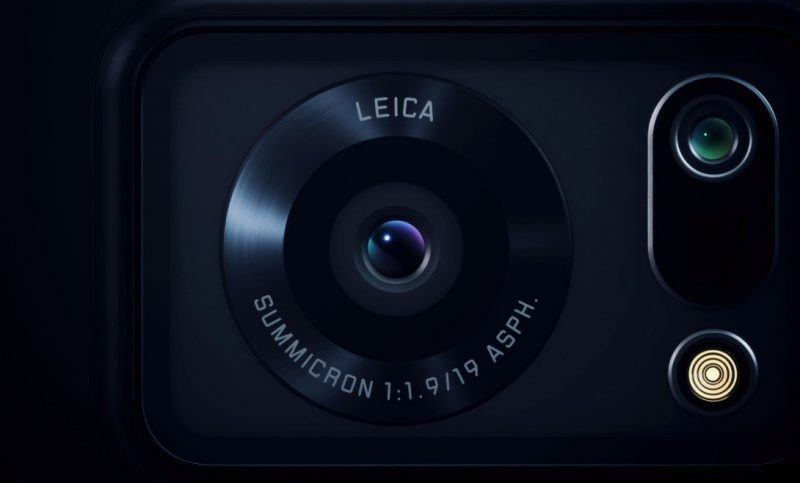 Aquos R6:n kameran linssi on Leican valmistama.