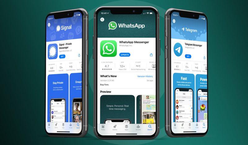 Telegram ja Signal ovat hyötyneet WhatsAppin käyttöehtokohusta.