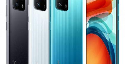 Kiinan Xiaomi Redmi Note 10 Pro eri väreissä.