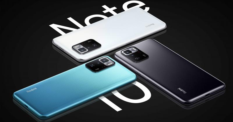 Kiinan Redmi Note 10 Pron värivaihtoehdot.