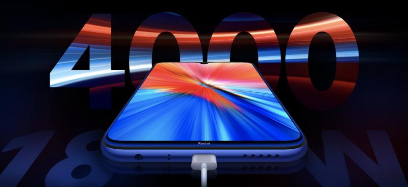 Redmi Note 8 2021 tukee 18 watin pikalatausta.