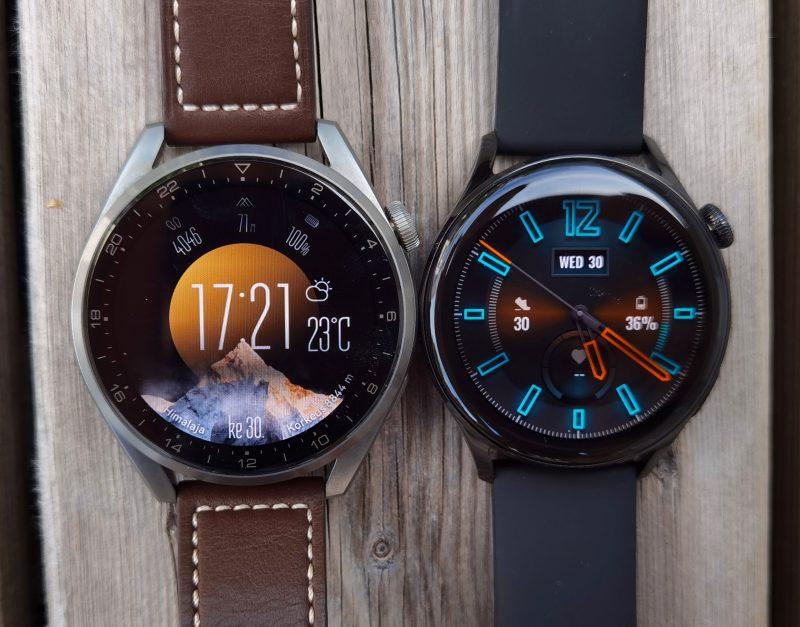 Sekä Huawei Watch 3:ssa että Watch 3 Prossa on 1,45-tuumainen, tarkka ja kirkas näyttö.