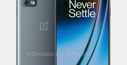 OnePlus Nord 2:n mallinnos. Kuva: OnLeaks / 91mobiles.