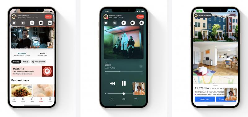 SharePlay mahdollistaa videosisältöjen, musiikin tai laitteen näytön jakamisen ja katselun yhdessä FaceTime-videopuheluissa.
