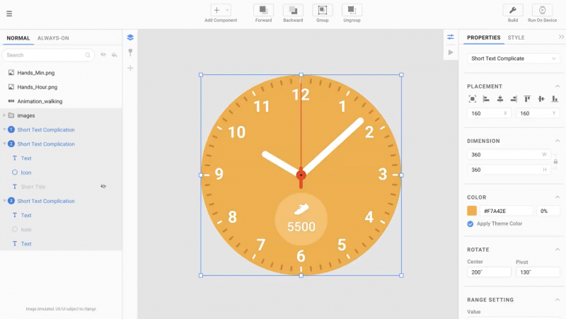 Samsungin tuleva kellotaulujen suunnittelutyökalu.