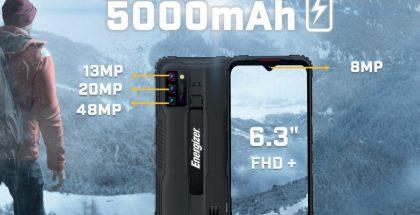 Energizer Hard Case G5:ssä on kestävä rakenne.