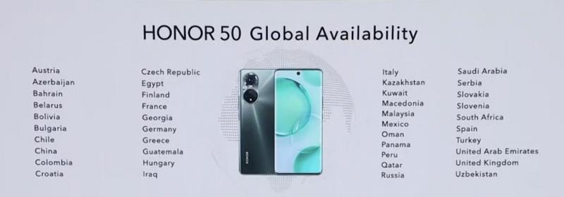 Honor 50 on tulossa saataville globaalisti. Listattuna myös Suomi.