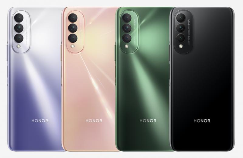 Honor X20 SE:n värivaihtoehdot.