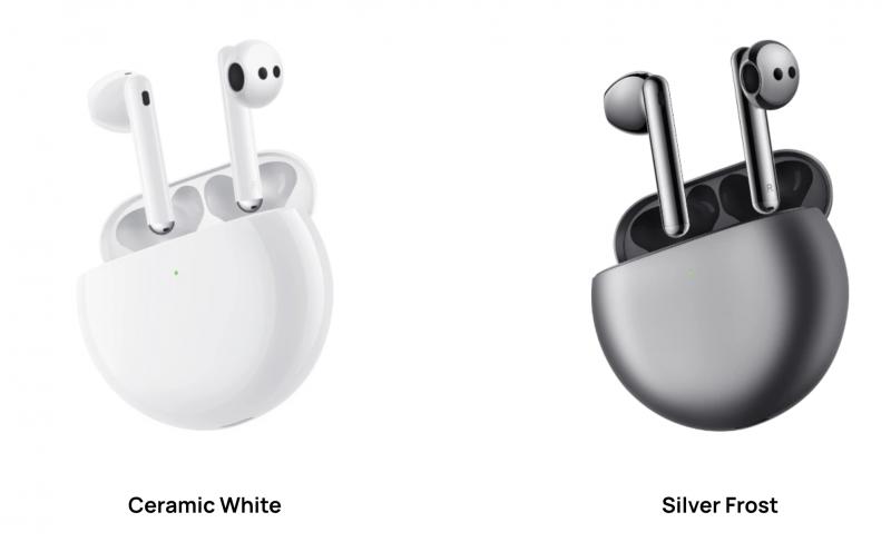 Huawei FreeBuds 4 -kuulokkeiden värivaihtoehdot kansainvälisillä markkinoilla.