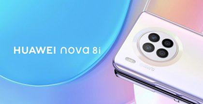 Huawei Nova 8i:ssä on neljä takakameraa pyöreällä kamera-alueella.