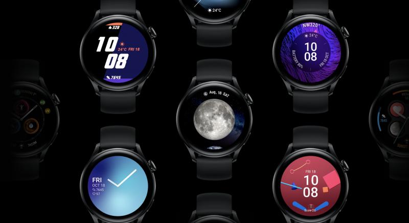 Huawei Watch 3 -kellojen kellotauluja.