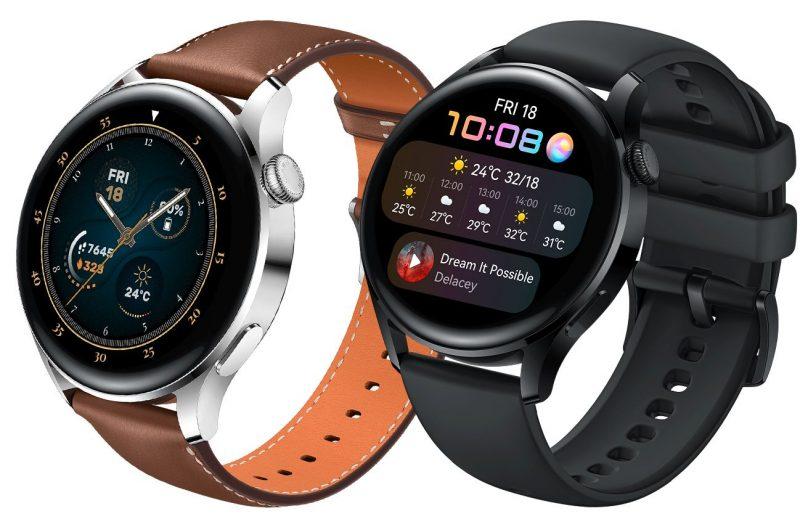 Huawei Watch 3 kahtena tyyliversiona. Kuva: Evan Blass.