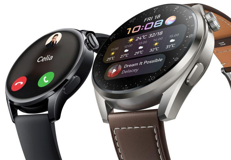 Huawei Watch 3 vasemmalla, Huawei Watch 3 Pro oikealla. Kuva: Evan Blass.