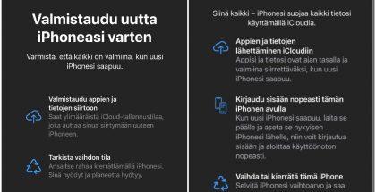 Uusi ominaisuus helpottaa laitteen vaihtoa iOS 15:ssä.