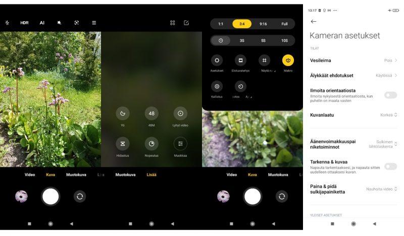 Redmi Note 10 5G:n kamerohjelmisto on riisuttu mutta toimiva.